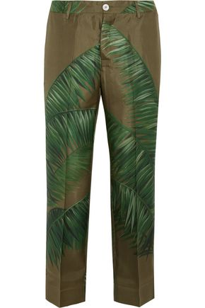 F.R.S. FOR RESTLESS SLEEPERS Tartaro printed silk-twill pants