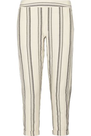 HATCH Cassie striped cotton tapered pants