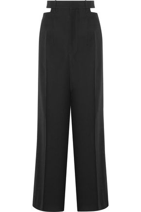 HAIDER ACKERMANN Berkeley cutout wool-piqué wide-leg pants