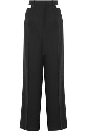 HAIDER ACKERMANN Berkeley cutout wool-piqué wide-leg pants