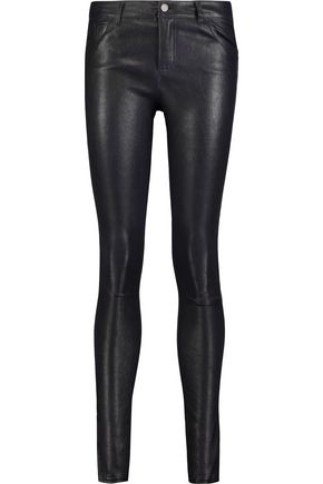 ALICE+OLIVIA Angie leather skinny pants