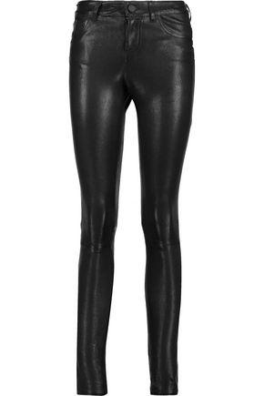 ALICE + OLIVIA Angie stretch-leather skinny-leg pants