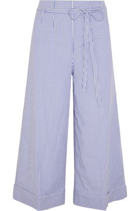 J.CREW Banada striped stretch-cotton wide-leg pants