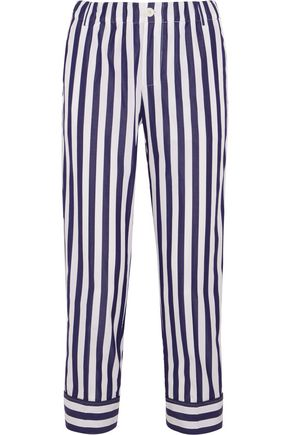 J.CREW + Thomas Mason Andy cropped striped cotton straight-leg pants