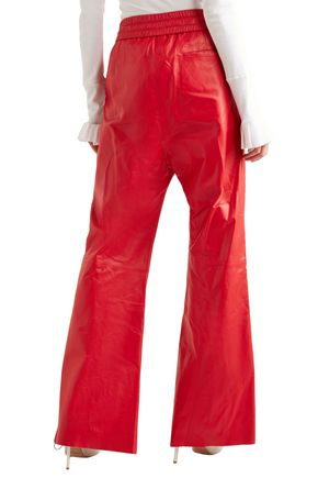 OFF-WHITE™ Striped leather wide-leg pants
