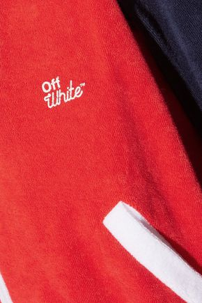 OFF-WHITE™ Color-block cotton-terry jumpsuit