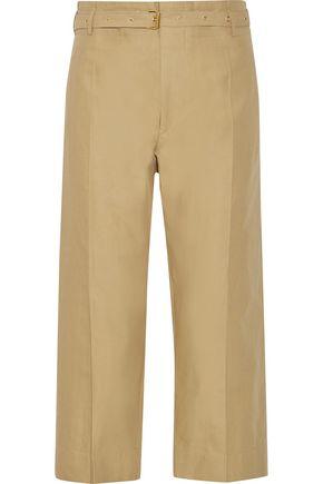 ISABEL MARANT Hera belted cotton and linen-blend wide-leg pants