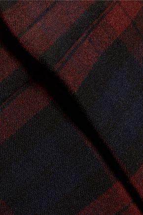 DEREK LAM 10 CROSBY Checked flannel bootcut pants