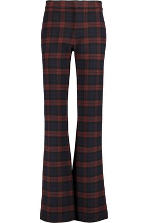 10 CROSBY DEREK LAM Checked flannel bootcut pants