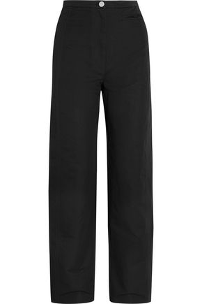 LEMAIRE Cotton and linen-blend wide-leg pants