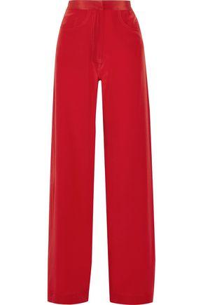 JUAN CARLOS OBANDO Silk crepe de chine wide-leg pants
