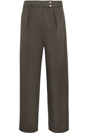 KENZO Cropped cotton-blend twill straight-leg pants