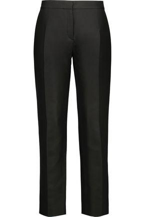 NINA RICCI Wool and silk-blend tapered pants