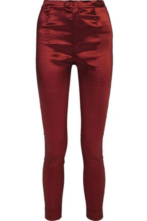 ISABEL MARANT Stretch-taffeta skinny pants