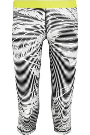 THE UPSIDE Valley Palms cropped printed stretch-jersey leggings