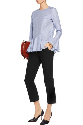 THEORY Avla cotton-blend straight-leg pants