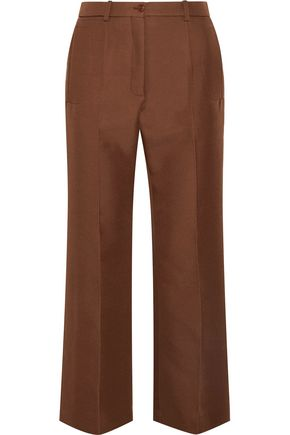 NINA RICCI Cropped wool-blend wide-leg pants