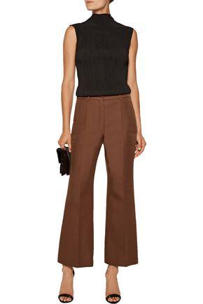 NINA RICCI Cropped wool-blend wide-leg pants