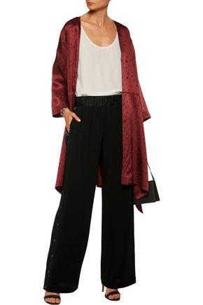 CINQ À SEPT Beatrix buttoned crepe wide-leg pants