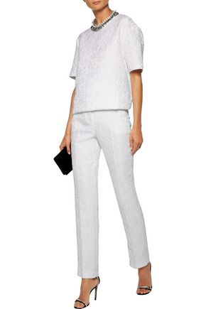 GIVENCHY Corded lace straight-leg pants