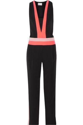 MILLY Color-block crepe jumpsuit