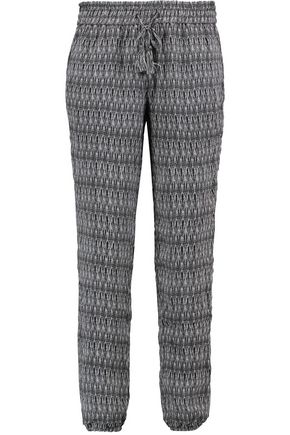 JOIE Jourdanna printed silk crepe de chine track pants