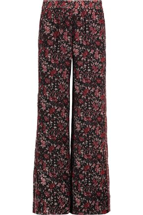 JOIE Kieran printed silk wide-leg pants