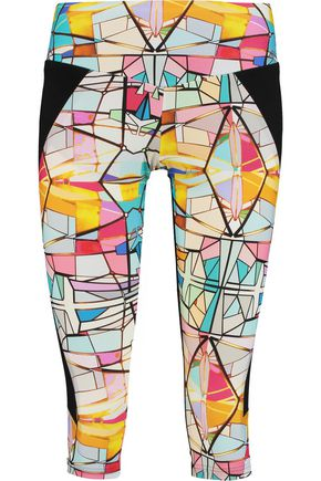 LUCAS HUGH Leadlight cropped printed stretch leggings