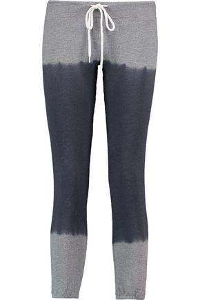 MONROW Ombré stretch-jersey track pants