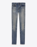SAINT LAURENT Skinny fit D Mid-rise skinny jeans in faded blue denim f
