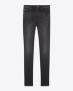 SAINT LAURENT Skinny fit D High-rise skinny jeans in black stretch denim f