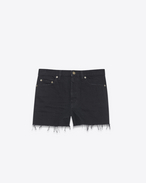 SAINT LAURENT Short Trousers D Baggy shorts in black denim f