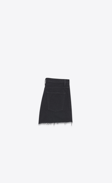 SAINT LAURENT Pantalons courts Femme Short baggy en denim noir b_V4