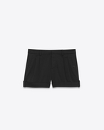 SAINT LAURENT Short Pants D Shorts in black cotton serge f