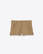 SAINT LAURENT Short Pants D Shorts in beige stretch cotton f