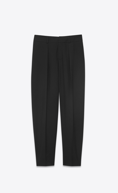 SAINT LAURENT Classic Pant D Cargo pants in black gabardine a_V4