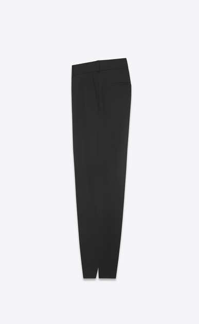 SAINT LAURENT Classic Pant D Cargo pants in black gabardine b_V4