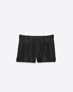 SAINT LAURENT Short Trousers D Black leather shorts f