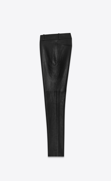 SAINT LAURENT Leather pants Woman Tailor pants in black nappa leather b_V4