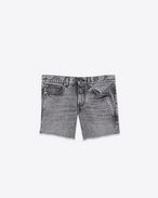 SAINT LAURENT Short Trousers D Low-rise shorts in faded black denim f