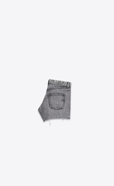 SAINT LAURENT Short Trousers D Low-rise shorts in faded black denim b_V4