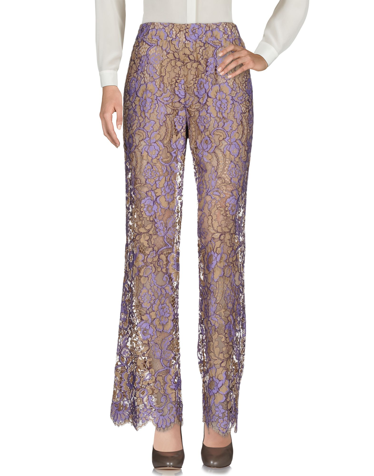 TWIN-SET Simona Barbieri Повседневные брюки checker knot bikini set