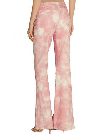 MICHAEL KORS COLLECTION Printed suede wide-leg pants