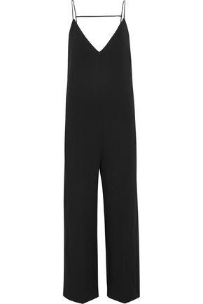 JOSEPH Tish silk-trimmed crepe jumpsuit