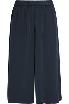 VINCE. Washed-satin culottes