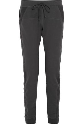 SKIN Paneled cotton-blend track pants