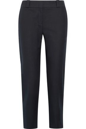 THE ROW Blake stretch-cotton slim-leg pants