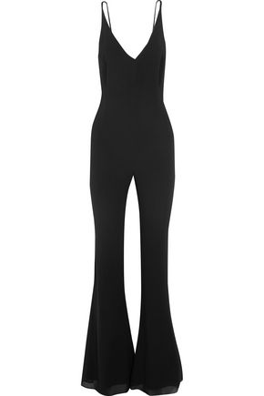 HANEY Gloria stretch-silk crepe de chine jumpsuit