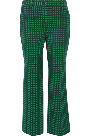 MICHAEL KORS COLLECTION Polka-dot stretch-wool straight-leg pants