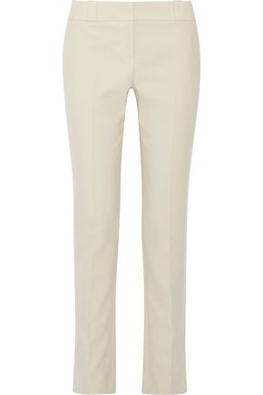 THE ROW Loke brushed-cotton straight-leg pants